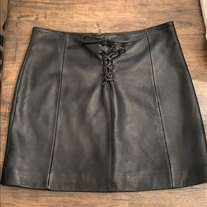 😍😍😍😍Wilson leather mini skirt